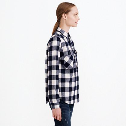 Buffalo check flannel shirt jacket for Buffalo check flannel shirt jacket