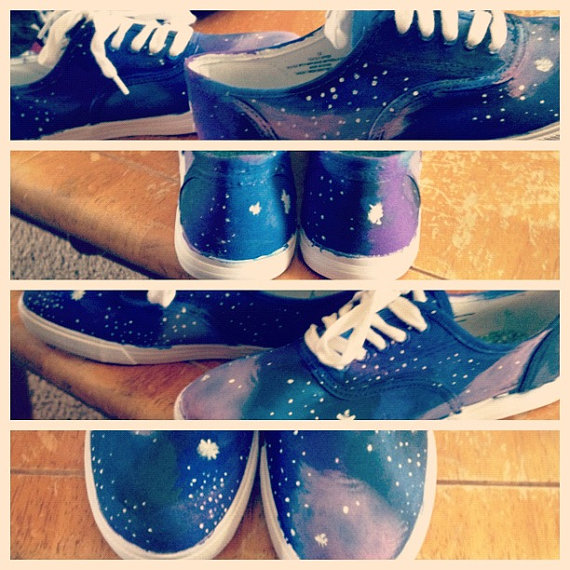 Galaxy shoes par rachelletoms sur etsy