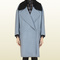 Gucci - oversize coat with shearling collar 335477zaz484755