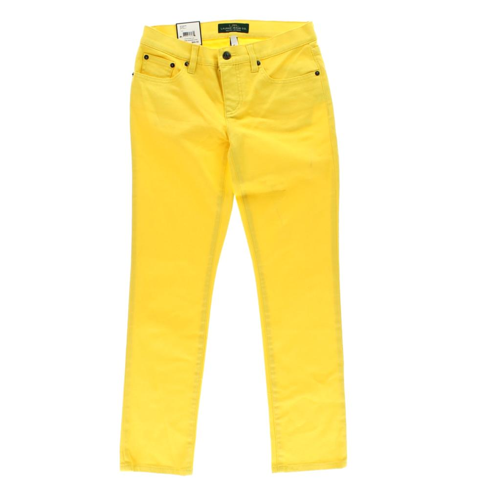 Ralph Lauren Yellow Denim Cotton Straight Leg Jeans 4 BHFO | eBay