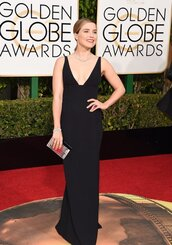 dress,black dress,sophia bush,Golden Globes 2016,prom dress,long dress,plunge v neck,plunge dress,clutch,gown,red carpet dress,sandals,shoes,black