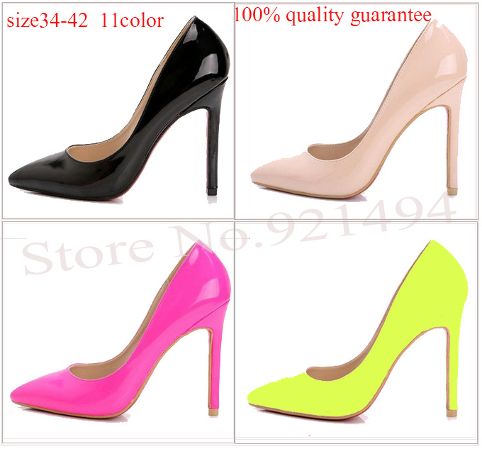 New 2014 Women's High Heels Plue Size34 4210 11 Women Pumps Sexy Bride Party Thin Heel  Pointed Toe High Heels Wholesale Shoes-in Pumps from Shoes on Aliexpress.com