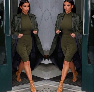coat kim kardashian trench coat dress