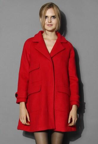 Oversized Red Coat - Shop for Oversized Red Coat on Wheretoget