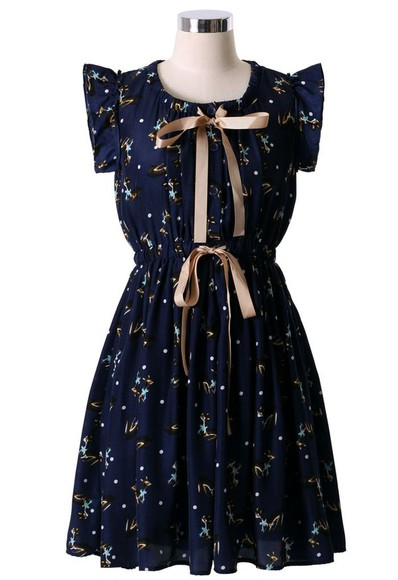 bows girly dress print
