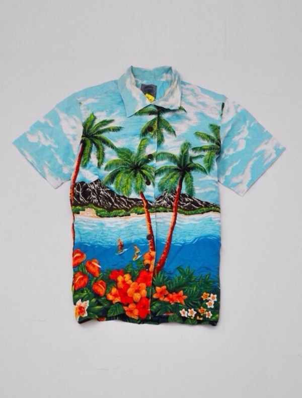 shirt hawaiian tropical tropical hawaiian sunny