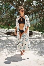 dress,kimono,resort wear,bikiniluxe,maxi dress