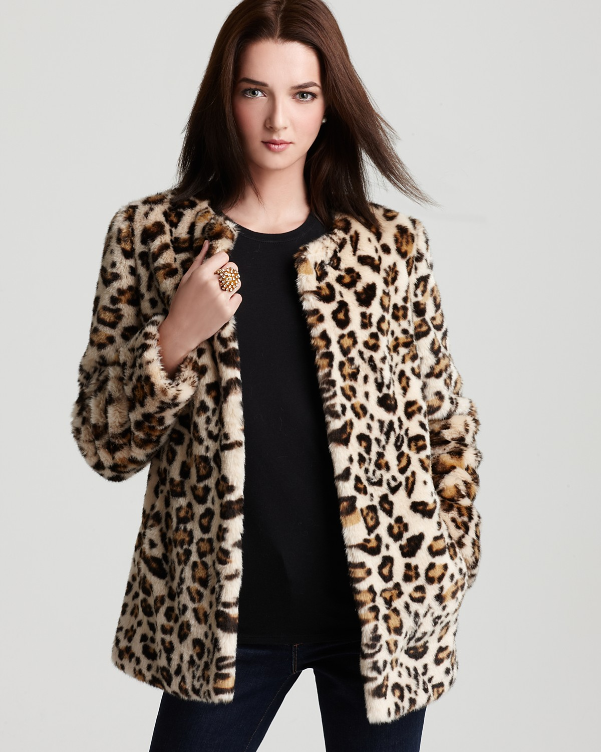 Street by Cynthia Vincent Leopard Faux Fur Coat - Coats & Jackets ...