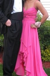 dress,prom,prom dress,pink