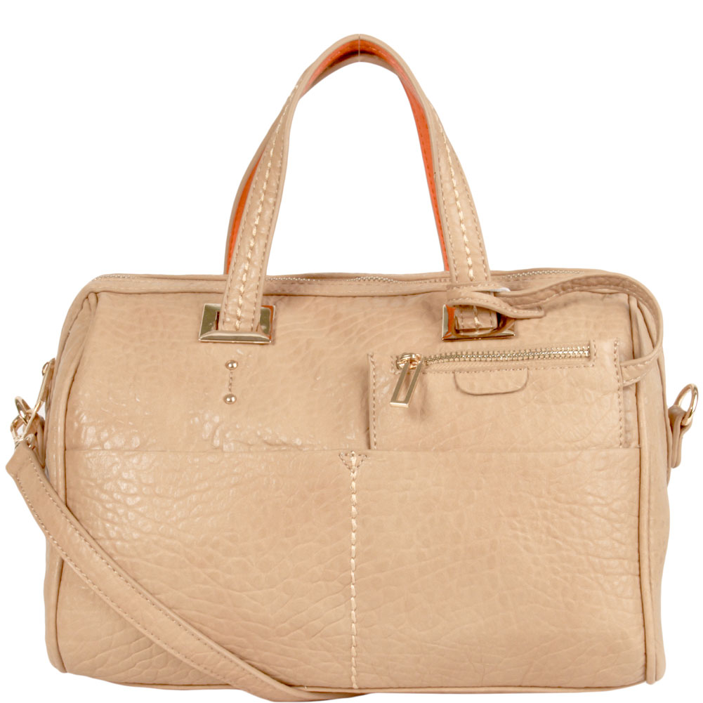 Corey Barrel Satchel Handbag