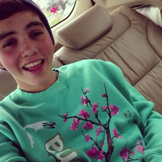 sweater sam sam pottorff pottorff arizona arizona sweater green green sweater flowers pink pink sweater