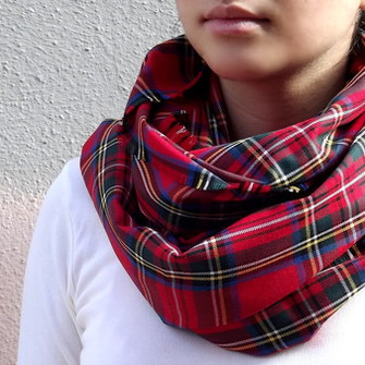 plaid scarf tartan scarf scottish tartan scottish plaid scarf red
