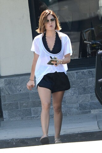 top bra lucy hale shorts summer summer outfits