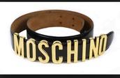 belt,moschino,moschino belt,moschino belt gold,moschino black logo belt