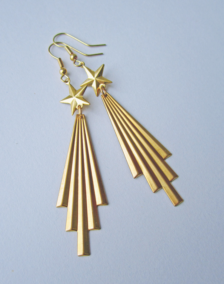 Blazing Your Trail Comet Earrings — Eclectic Eccentricity Vintage Jewellery