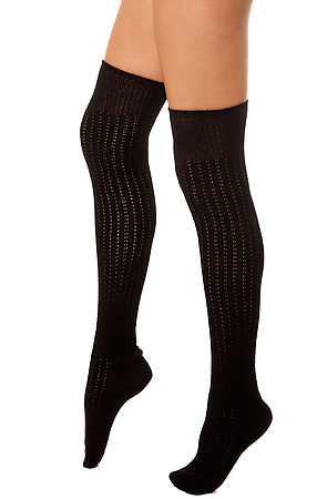 K.Bell socks Old Fashioned Over the Knee Sock Black - Karmaloop -  Karmaloop.com