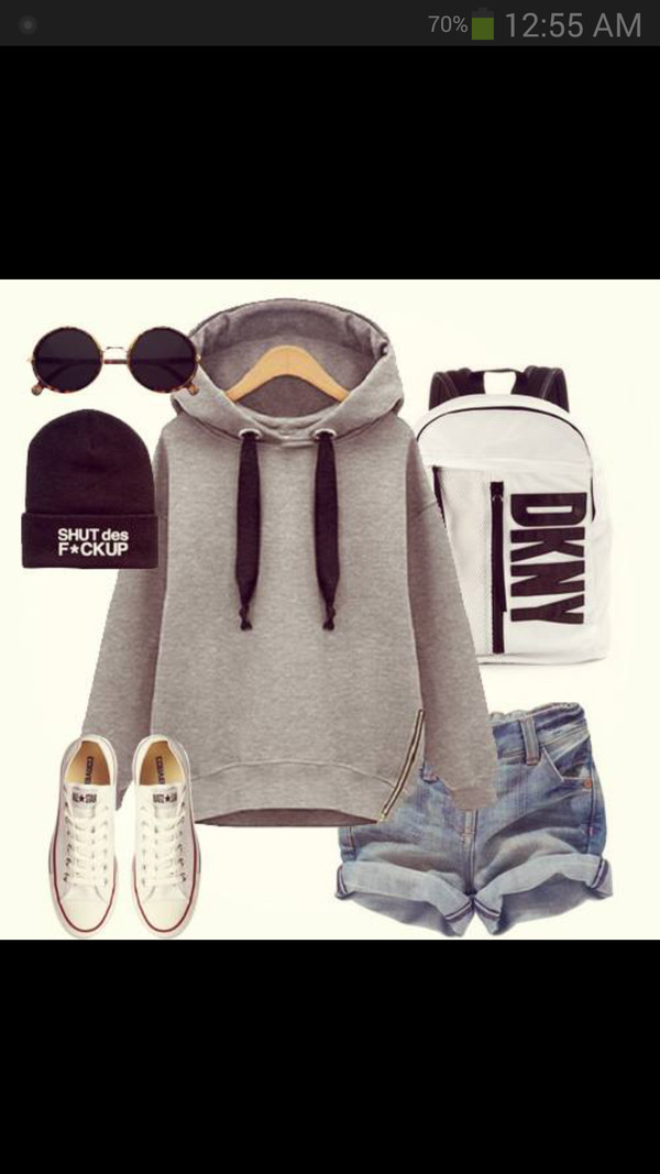 bag hoodie bookbag backpack hat sunglasses shorts sweater