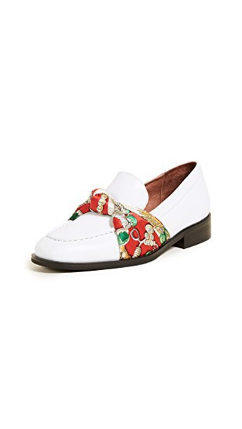 loafers white red shoes