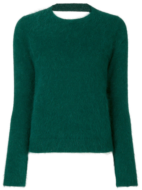 jumper women fit green sweater