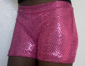 shorts hotpinkbeanie sequins cheerleading