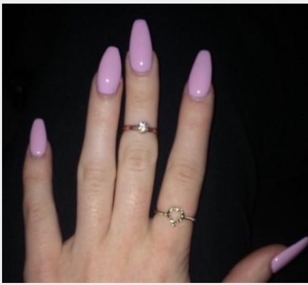 Jewels Pink Pink Nails Nails Nail Polish Nail Accessories Ring Rings And Tings Gold