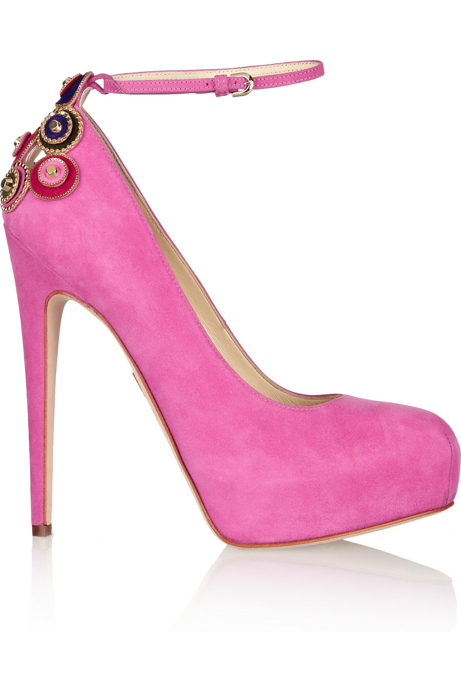 Brian atwood zenithlux embellished suede pumps – 60% at the outnet.com