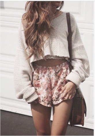 sweater oversized sweater cute sweaters cropped sweater cream sweater