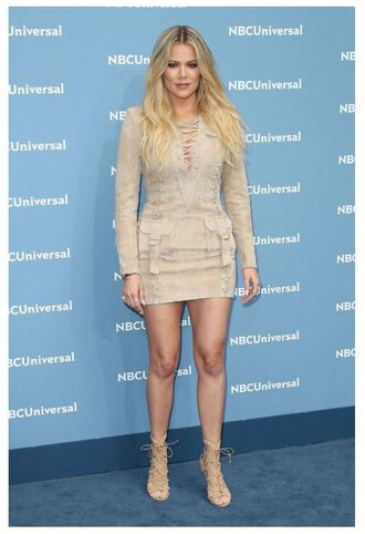 dress mini dress khloe kardashian sandals suede shoes