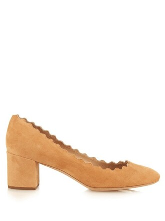 heel suede pumps pumps suede tan light shoes