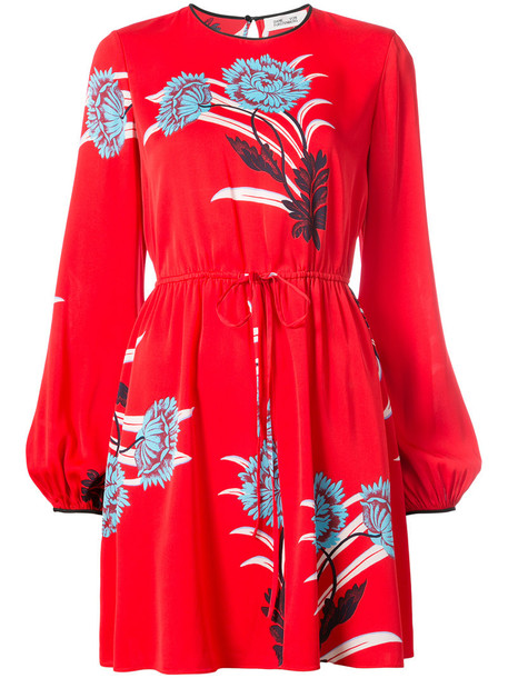 Dvf Diane Von Furstenberg dress mini dress mini women silk red