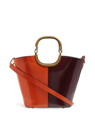 bag bucket bag leather