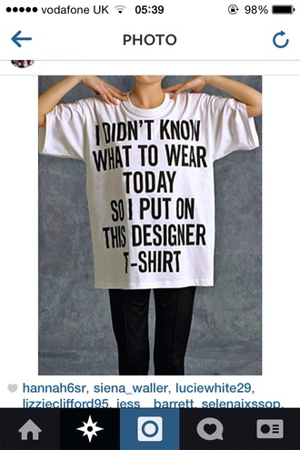 t-shirt i didn't know what to wear today baggy t shirt oversized t-shirt designer