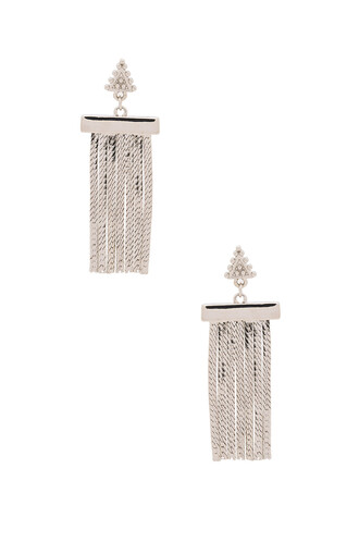 earrings metallic silver