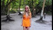 jumpsuit,romper,orange,dress,crossed,holidays