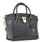 Michael michael kors hamilton large handbag in black grained leather