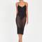 Push my buttons sheer bodysuit dress black olive - gojane.com
