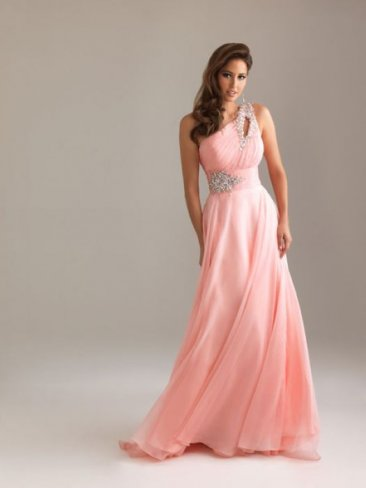 Peach Sequin Detail One Shoulder Long Prom Dresses 2013 [Long peach prom dresses] - $162.00 : Prom Dresses On Sale, 60% off Dresses for Prom Night 2013
