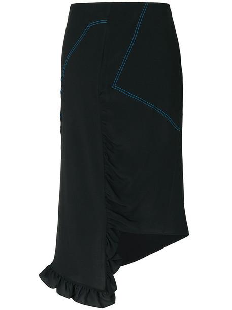 MARNI skirt women black silk