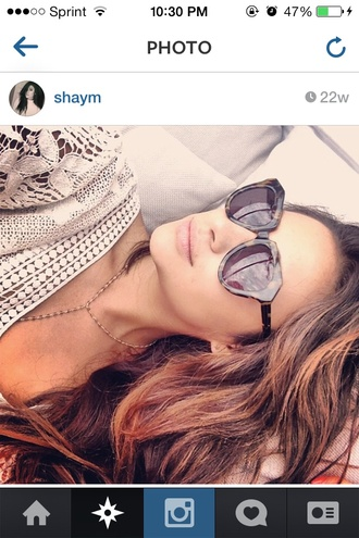 sunglasses pretty little liars shay mitchell round sunglasses