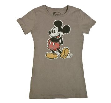 Womens Mickey Mouse Batik TShirt