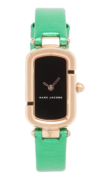 rose gold rose watch gold black green jewels