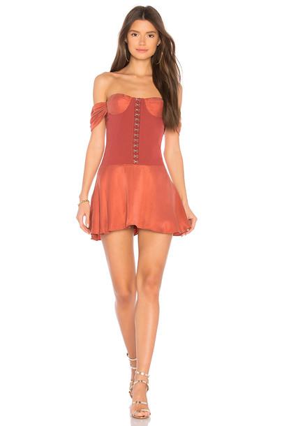 NBD dress rust