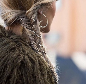 hair accessory hair rings braid blonde hair earrings hairstyles