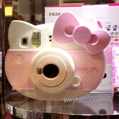 phone cover,poleriod,camera,iphone,pink,hello kitty,phone
