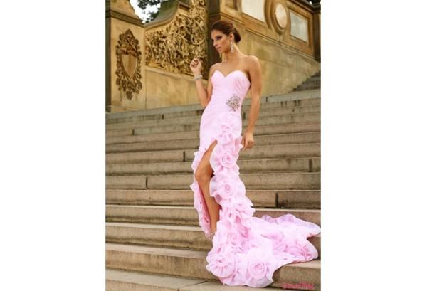 dress pink dress sexy prom dress beaded homecoming dress ruffle hi how dress hi low homecoming dresses long train dress pink homecoming dresses hi low dresses