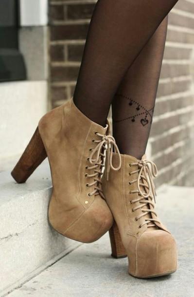 shoes brown platform