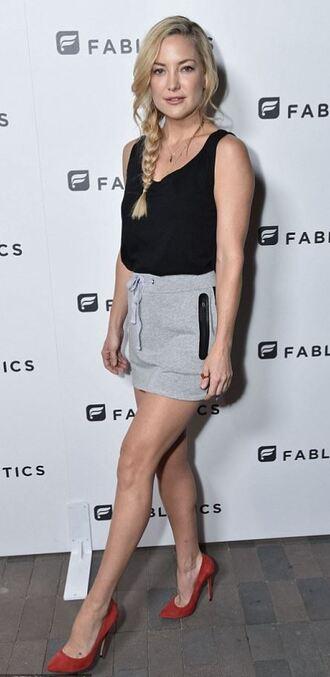 skirt top mini skirt kate hudson pumps casual sporty chic