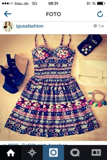 dress colorful boheme pink red lines bohemian hipster love cute need stambul shoes