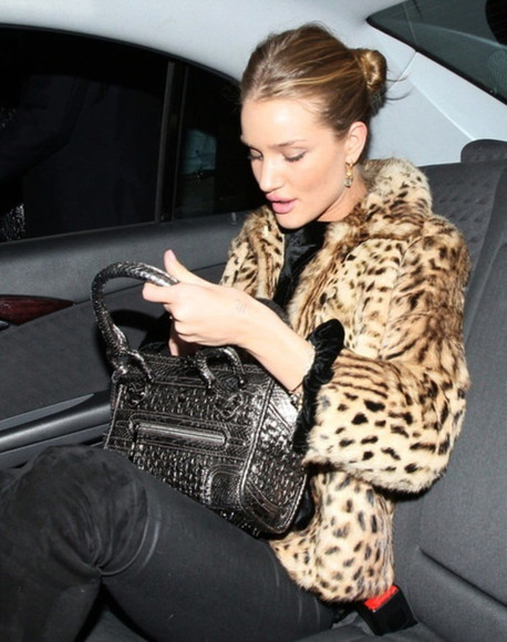 leopard print animal print fur cheetah print rosie huntington-whiteley