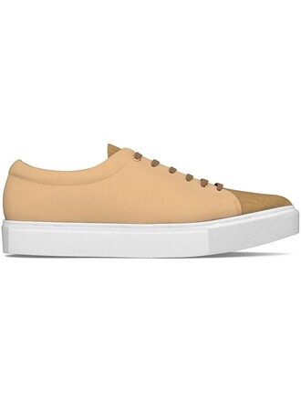 hair women sneakers leather nude shoes